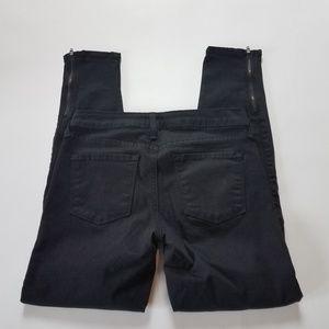 Just Black Denim Jeans Skinny Side Zip 26